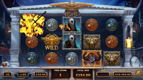 Champions of Rome gratis spins