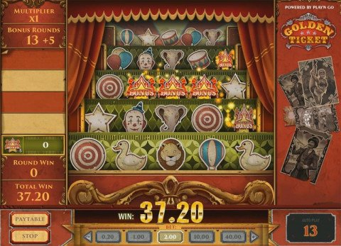 Golden Ticket bonus spel