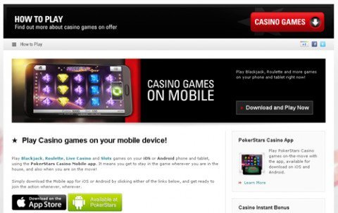 PokerStars casino mobiel